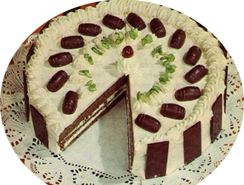 טורט רום ושוקולד >>>מאסטר מתכונים