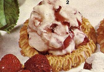 טורטלטים של תות וגלידה >>>מאסטר מתכונים