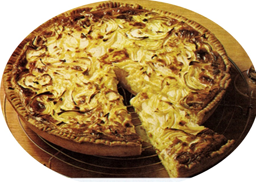 עוגת בצל מבצק שמרים>>>מאסטר מתכונים