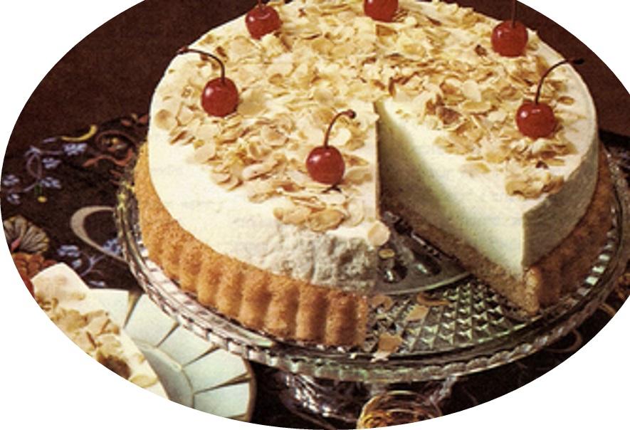 עוגת גבינה בקצפת עם שקדים>>>מאסטר מתכונים