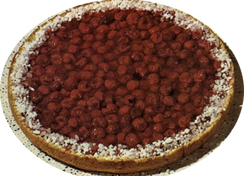 עוגת דובדבנים ושקדים