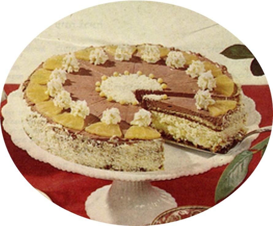 עוגת קוקוס ואננס