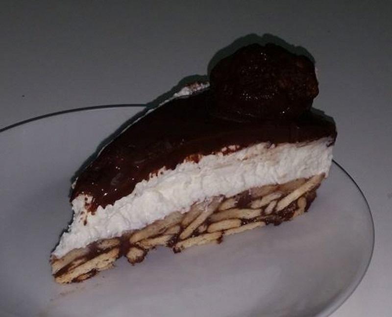 עוגת כדורי שוקולד וגבינה