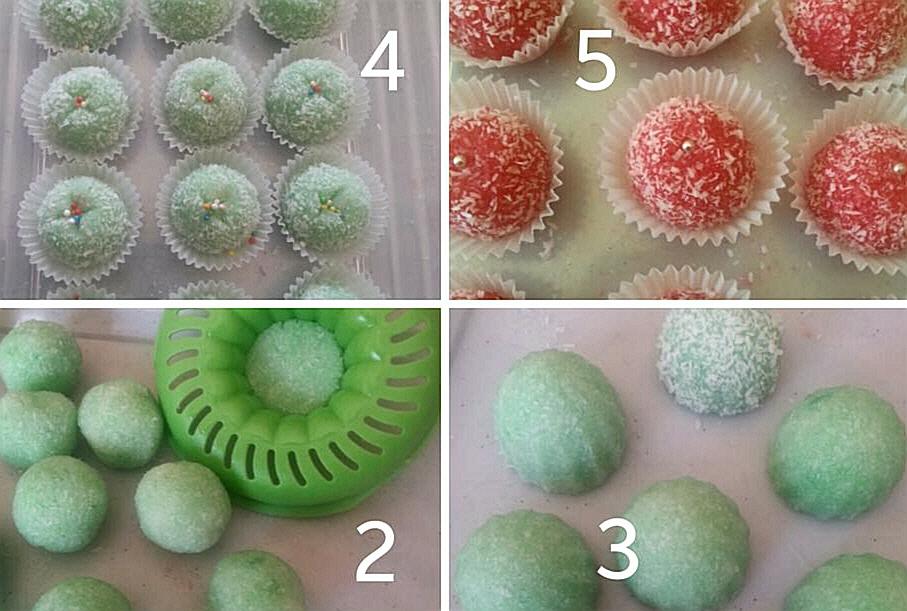 עוגיות (סוכריות) קוקוס ללא אפיה