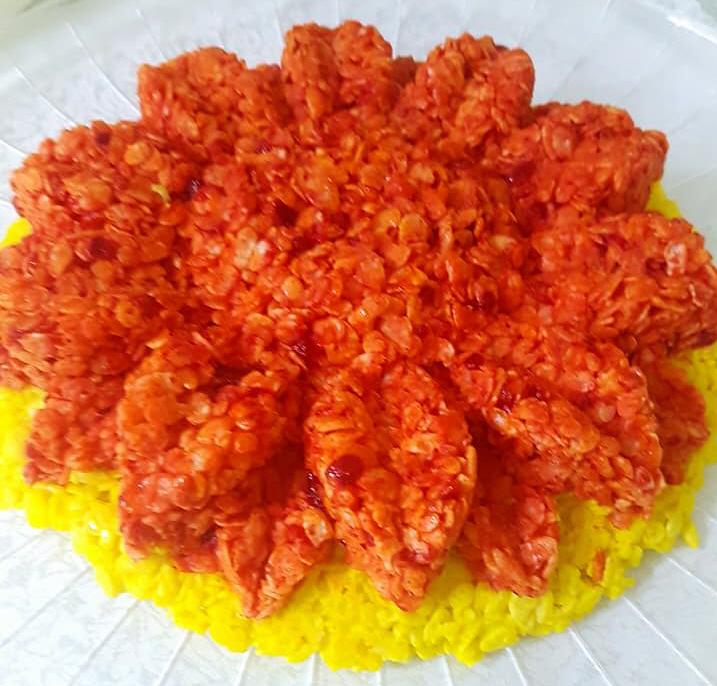 עוגת פיצפוצי אורז צבעונית